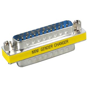 Gender Changer, Adapter, 2x 25-pol. D-Sub ST FREI