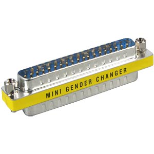 Gender Changer, Adapter, 2x 37-pol. D-Sub ST FREI