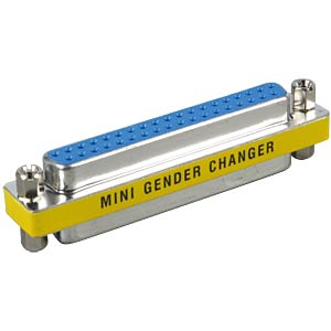 Gender changer, adapter, 2x 37-pin. D-Sub BU FREI