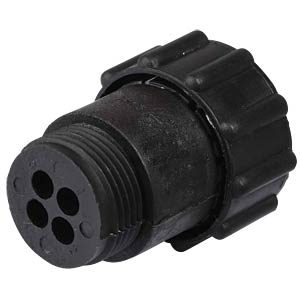 4-pin plug for empty housing for pin contacts TYCO-ELECTRONICS 0-0182651-1