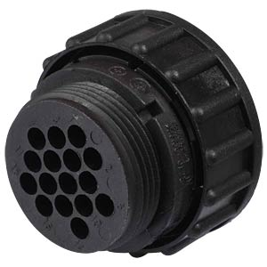 16-pin plug for empty housing for socket contacts TYCO-ELECTRONICS 0-0182642-1