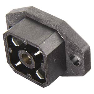 4-pin surface-mounted device plug with flange BELDEN G 4 A 5 M SCHWARZ
