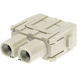 Axial module socket insert, 2-pin, 40A HARTING 09 14 002 2701