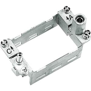 Articulated frame for mounting housing, a...f, 24B HARTING 09 14 024 0313