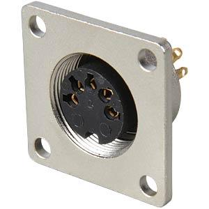 Panel-mounted coupler, flange, IP68, 5-pin LUMBERG 0308 05