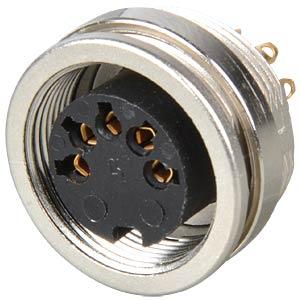 Panel-mounted coupler, front mounting, IP40, 5-pin LUMBERG KFV 50