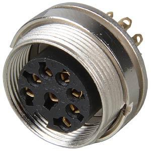 Panel-mounted coupler, rear mounting, IP40, 8-pin LUMBERG KGV 80