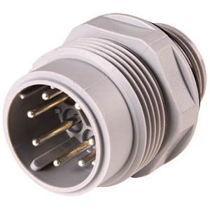 6-pin + PE panel plug, connectors, solderable BELDEN N6R AM 2 D