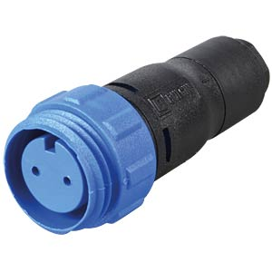 Connector, 2-pin, socket BULGIN PX0410/02S/5560