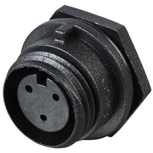 Connector, front panel, 3-pin, socket BULGIN PX0412/03S
