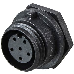 Connector, front panel, 6-pin, socket BULGIN PX0412/06S