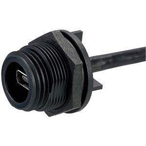 Buchse Typ AB , Kabel, 6-pol. PCB-Anschluss BULGIN PX0457
