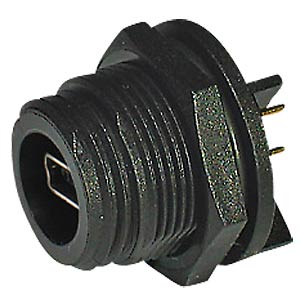 Socket type AB, cable, 6-pin solder connection BULGIN PX0458