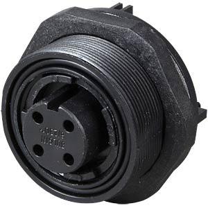 Connector, rear panel, PCB, 4-pin, socket BULGIN PX0707/S/04