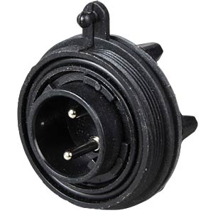 Connector, flex, 2-pin, plug BULGIN PX0735/P