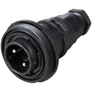 Steckverbinder, inline Flex, 2-polig, Stecker BULGIN PX0737/P