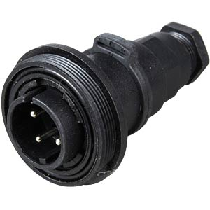 Connector, in-line flex, 4 pole, plug BULGIN PX0749/P