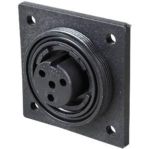 Connector, flange, crimp, 3-pin, socket BULGIN PX0781/S