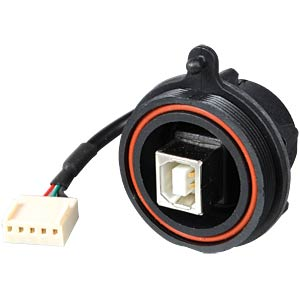 Frontplattenm. USB-Stecker, IP68 Typ B, Crimp BULGIN PX0843/B