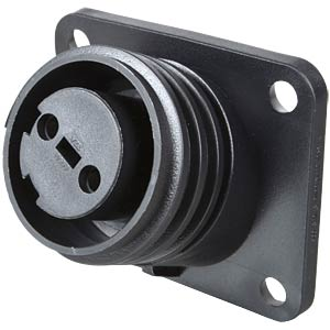 Flange mount connector, 2-pin, socket BULGIN PX0941/02/S
