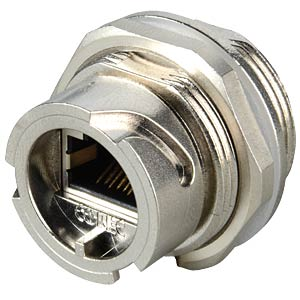 RJ45 installation housing, coupler, shielded, metallic CONEC 17-10012