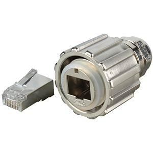 RJ45 plug, shielded, metallised CONEC 17-10013E