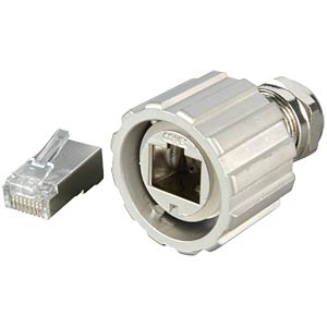 RJ45 plug, shielded, die-cast zinc CONEC 17-10044