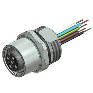 SAL M12x1, 4 pole, connector CONEC 43-01000