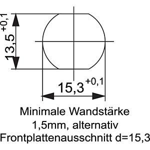 SAL M12x1, 4-pol, Einbaubuchse CONEC 43-01000