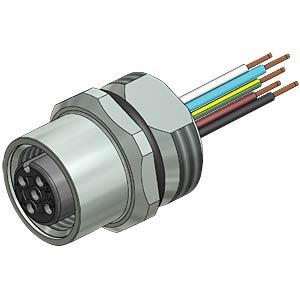 SAL M12x1, 5 pole, connector CONEC 43-01001