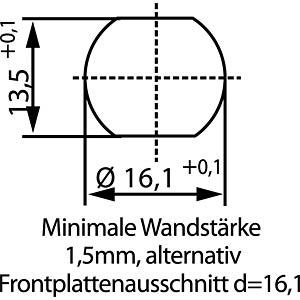 SAL M12x1, 5-pol, Einbaubuchse CONEC 43-01001