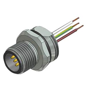 SAL M12x1, 4-pol, Einbaustecker CONEC 43-01009