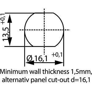 SAL M12x1, 5-pol, Einbaustecker CONEC 43-01010