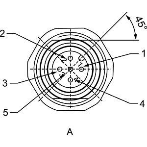 SAL M12x1, 4-pol, Flanschstecker CONEC 43-01012