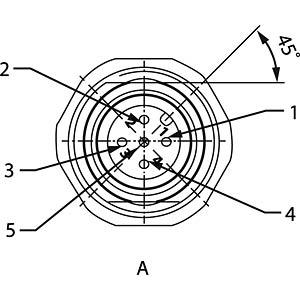 SAL M12x1, 5-pol, Flanschstecker CONEC 43-01013