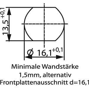SAL M12 x 1, 4-pin, flange plug CONEC 43-01013