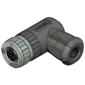 SAL M12x1, 4-pol, Buchse, gewinkelt CONEC 43-00096