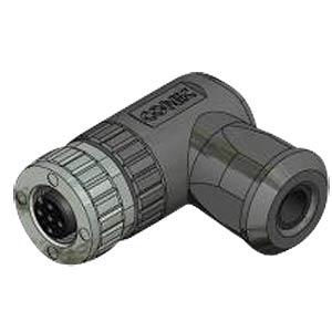 SAL M12x1, 5-pol, Buchse, gewinkelt CONEC 43-00098