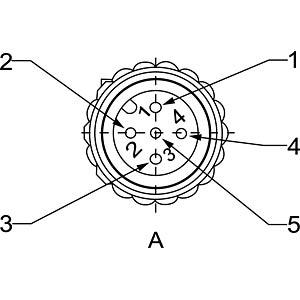 SAL M12x1, 5-pol, 2 m, Kabelstecker CONEC 43-10136