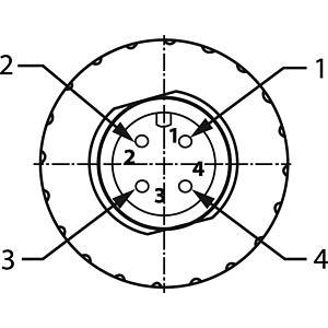SAL M12x1, 4-pol, Stecker CONEC 43-00100