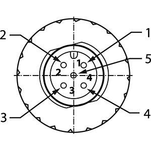 SAL M12 x 1, 5-pin, plug CONEC 43-00102