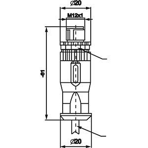 SAL M12x1, 5-pol, Stecker CONEC 43-00102