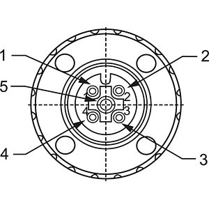 SAL M12x1, 5-pol, Buchse CONEC 43-00114