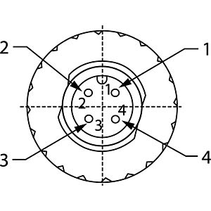 SAL M12x1, 4-pol, Stecker CONEC 43-00115