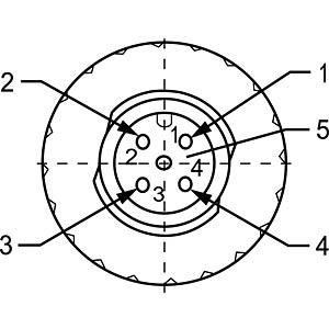 SAL M12x1, 5-pol, Stecker CONEC 43-00116