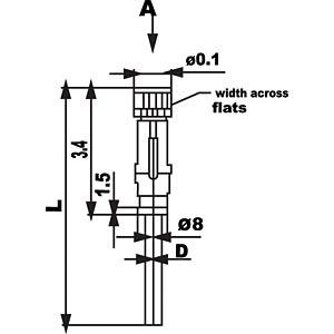 SAL M8x1, 4-pol, 2 m, Kabelkupplung CONEC 42-10036