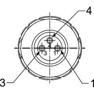 SAL M8x1, 3-pol, Buchse CONEC 42-00010