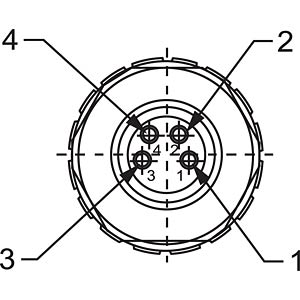 SAL M8 x 1, 4-pin, socket CONEC 42-00012