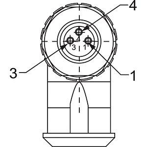 SAL M8 x 1, 3-pin, socket, angled CONEC 42-00026