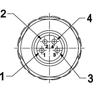 SAL M8x1, 4-pol, Stecker CONEC 42-00011
